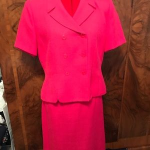 Pink skirt and jacket suit 14p